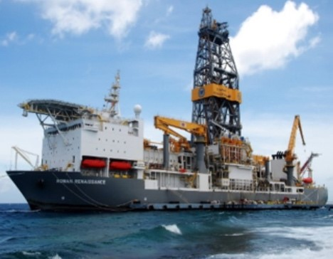 Deep water drill ship offshore in Mexico